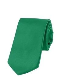 Jacob Alexander Solid Color Kelly Green Boys Tie By