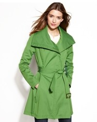 BCBGeneration Funnel Collar Belted Trench Coat