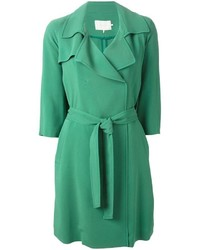 Belted lightweight trench coat medium 338025