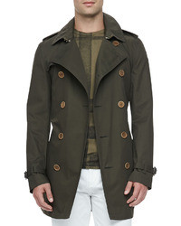 Burberry Brit Lightweight Trench Coat Green