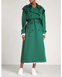 Valentino Cold Shoulder Woven Trench Coat