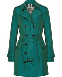 Burberry London The Sandringham Mid Cotton Gabardine Trench Coat