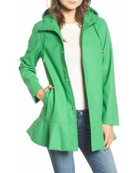 Kate Spade New York Hooded Peplum Rain Coat