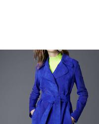 Diane von Furstenberg Suede Trench Coat