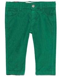 Gucci Straight Leg Stretch Corduroy Pants Green Size 6 36 Months