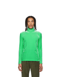 Sankuanz Green Velour Turtleneck