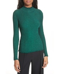 Milly Italian Stardust Ribbed Turtleneck