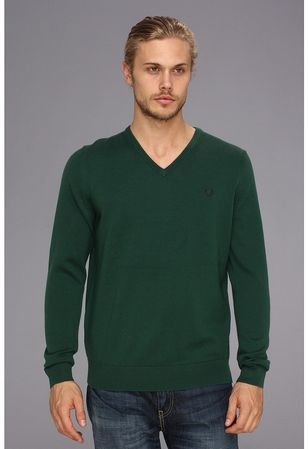 ... Fred Perry Classic Tipped V Neck Sweater ...
