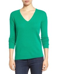 Petite halogen v neck cashmere sweater medium 952057