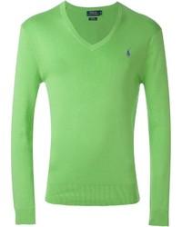 Polo Ralph Lauren V Neck Logo Sweater