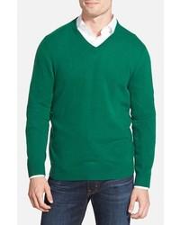 Shop cashmere v neck sweater medium 361091