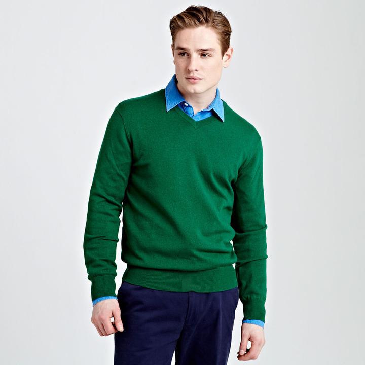 зелёный мужской свитер с чем носить настоящий