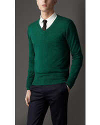 Burberry V Neck Cashmere Sweater