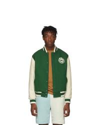 Lacoste Green Golf Le Fleur Edition Varsity Bomber Jacket