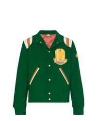 Gucci Tiger Motif Varsity Jacket