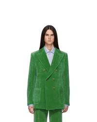 Gucci Green Velvet Blazer
