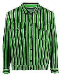 Issey Miyake Textured Striped Shirt
