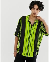 Collusion Oversized Stripe Revere Shirt