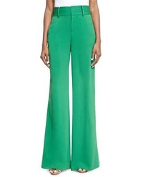 Alice + Olivia Paulette High Waist Wide Leg Pants Green
