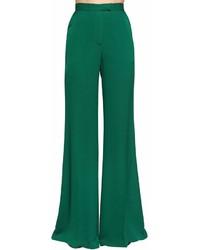 Elie Saab Wide Leg Silk Georgette Pants