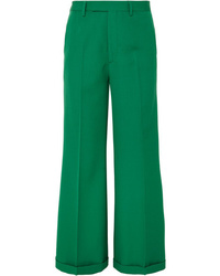 Gucci Wool Gabardine Wide Leg Pants