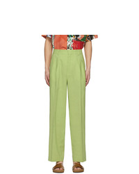 Jacquemus Green Le Pantalon De Costume Trousers