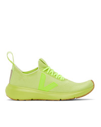 Rick Owens Yellow Veja Edition Sock Runner Sneakers