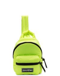 Versace Yellow Nylon Backpack