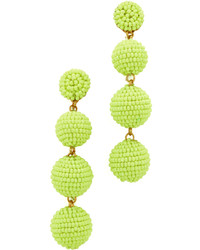 Green-Yellow Beaded Earrings