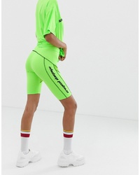 Green-Yellow Bike Shorts