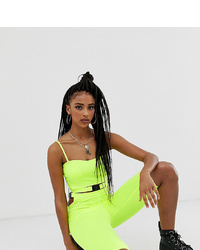 One Above Another Legging Shorts With In Neon Co Ord