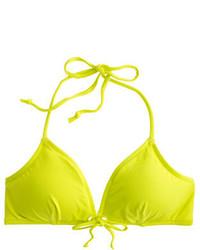 J.Crew Italian Matte Tie Front Grommet Bikini Top