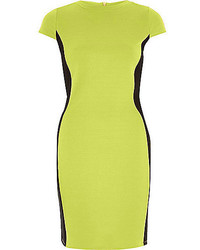 Green-Yellow Bodycon Dress