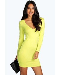 Boohoo Hayley Wrap Bodycon Dress
