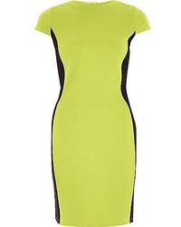 River Island Lime Green Bodycon Mini Dress