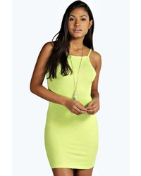 Boohoo Millie High Neck Mini Bodycon Dress