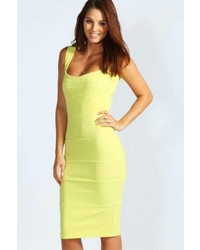 Boohoo Rosie Panelled Bodycon Midi Dress