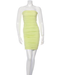 Alice + Olivia Ruched Strapless Dress