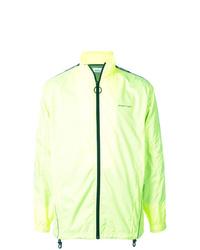 Off-White Logo Stripe Zip Up Jacket