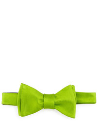 Ted Baker Solid Twill Bow Tie Green