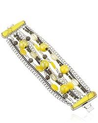 Kenneth Cole New York Lemon Splash Mixed Bead Multi Row Bracelet
