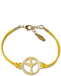 Ettika Medium Peace With Hoops Leather Bracelet