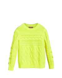 Burberry Aran Knit Wool Cashmere Sweater