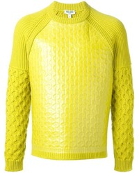 Kenzo Coated Cable Knit Sweater
