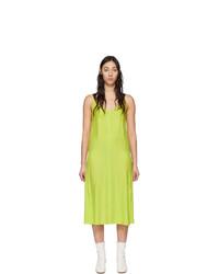 Rag and Bone Green Silk Colette Slip Dress