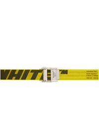 Off-White Yellow And Black 20 Industrial Belt