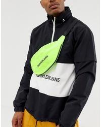 Calvin Klein Jeans Monogram Logo Bum Bag In Neon Yellow