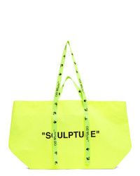 Off-White Yellow Pvc Commercial Tote