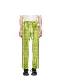 Kenzo Yellow Checkered Trousers