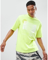 ANTIMATTER T Shirt In Yellow With Checkerboard Graphic